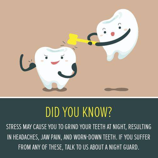 Teeth grinding related to stress